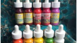 Ebru Artdeco Set - 10 svetlých farieb (30 ml každá farba)